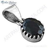 Dazzling Garnet Gemstone Sterling Silver Pendant