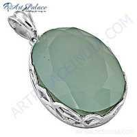 Exclusive Chalce Gemstone 925 Sterling Silver Pendant