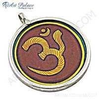 Hindu Religion Plain Silver Pendant