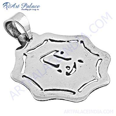 Plain Silver Pendant In Unique Style