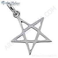 Cute Star Style Plain Silver Pendant