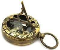 COLLECTIBLE BRASS SUNDIAL COMPASS