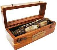 Telescope Leather Bounded w Wooden Case