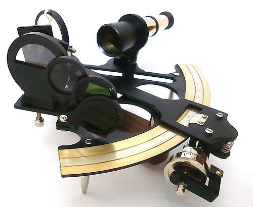 British Admiral Micrometer Sextant with Fitted Hard- Wood Box
