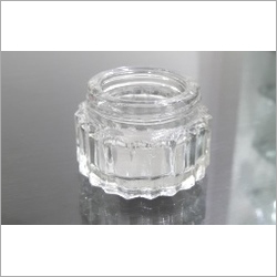 10Gms Rib Cream Glass Jars