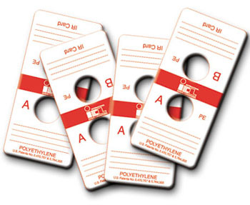 Polyethylene FTIR & IR Sample Cards with Two Sample Substrates