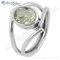 Charming Citrine Gemstone Silver Ring