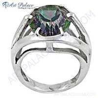 Charming Mistyque Topaz Gemstone Silver Ring