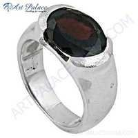 Hot Garnet Gemstone Sterling Silver Ring