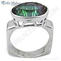 Shiney Mistyque Topaz Gemstone Silver Ring