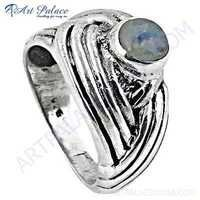 Fabulous Style Rainbow Gemstone Sterling Silver Ring