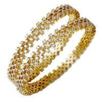 Wedding Bangle Pair In Yellow Gold