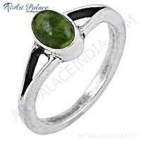 Delicate Peridot Gemstone 925 Sterling Silver Ring