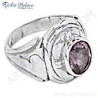 Charming Amethyst Gemstone Sterling Silver Ring