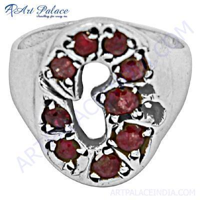 Excellent Garnet Gemstone Silver Ring
