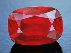 faceted cushion shaped for, wholesale precious ruby stone, Artificial Corundum Blood Red cushion