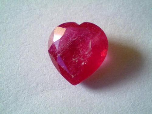 heart shaped ruby gem stone, Princess cut ruby stone, Beautiful Lab Created red heart shaped ruby st