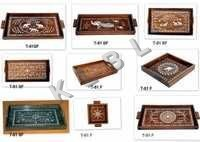 Inlaid wood  Tray