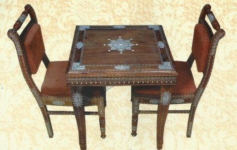Wooden Inlaid Chair