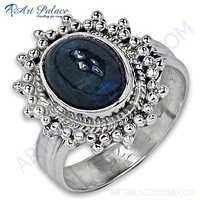 Party Wear Designer Kainaite Gemstone Silver Ring