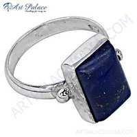 Fabulous Lapis Gemstone Sterling Silver Ring