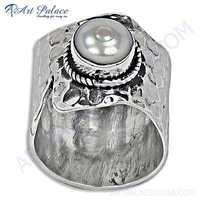Excellent Pearl Sterling Silver Ring
