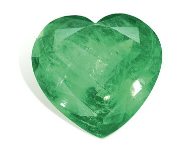 Green Emerald Heart Shape Cut.., First precious heart-shaped sakota mines emerald