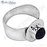 Dazzling Amethyst Gemstone Silver Ring