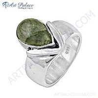 Delicate Labradorite Gemstone Silver Ring