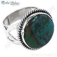 Vintage Turquoise Gemstone Sterling Silver Ring