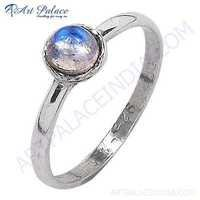 Classy Rainbow Moonstone 925 Streling Silver Ring