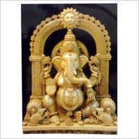Indian Wooden Ganesh Statue