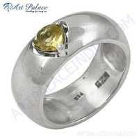 Cute Citrine Gemstone Sterling Silver Ring