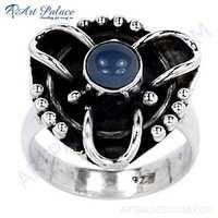 Rainbow Moonstone Cool Designer Silver Ring