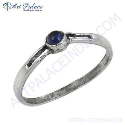 Trendy Amethyst Gemstone Silver Ring