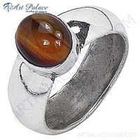 Exclusive Tiger Eye Gemstone Silver Ring