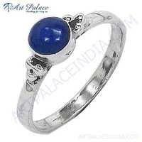 Famous Style Lapis Lazuli  Gemstone Silver Ring