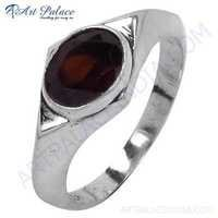 Luxurious Gemstone Silver Ring With Garnet
