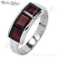 Wholesale Garnet Gemstone Silver Ring