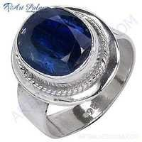 Hot World Large Kyanite Designer Silver Ring