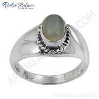Truly Designer Rainbow Moonstone Silver Ring