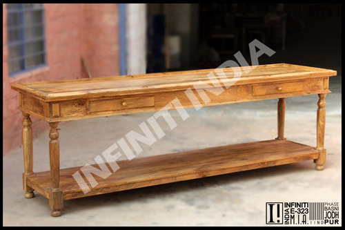 Vintage Wooden Console Table