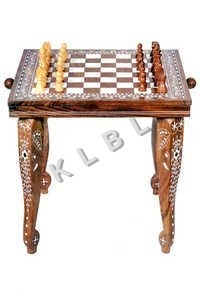 Wooden Chess With Table