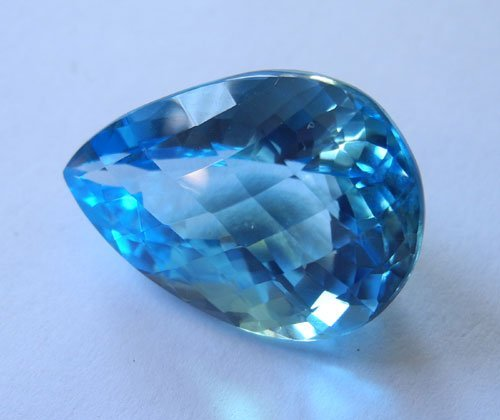 pear briolitte gemstone, Certified Planetary Stone USA, blue topaz loose pear stones