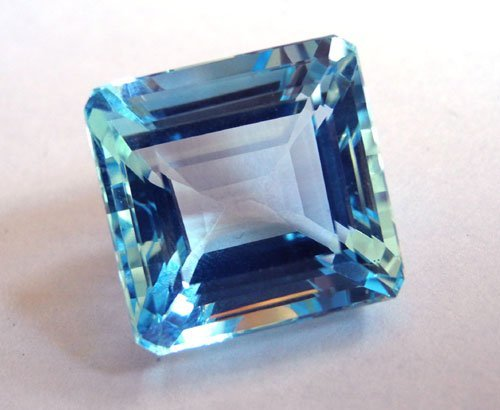 tailored shape and size manufacturer, square octagon emerald cut blue colored stone, bluestone sto