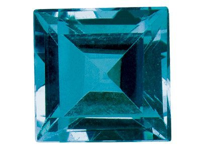 loose gemstone supplier from india, London Blue topaz supplier, Princess Cut Blue Corundum Stone