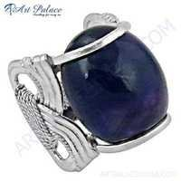 Hot World Large Antique Lapis Lazuli Gemstone Silver Ring