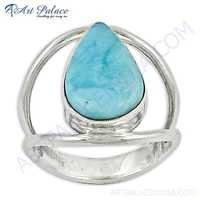 Unique Style Turquoise Gemstone Silver Ring