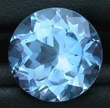round cutstone light swiss topaz, free size blue topaz, Round Brillant Cut Blue Topaz Loose gemstone