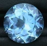 round cutstone light swiss topaz, free size blue topaz, Round Brillant Cut Blue Topaz Loose gemstone